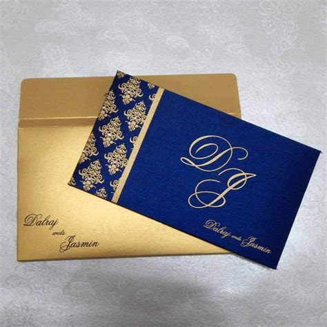 Satin Fabric Paper Hardbound Invitations I 202
