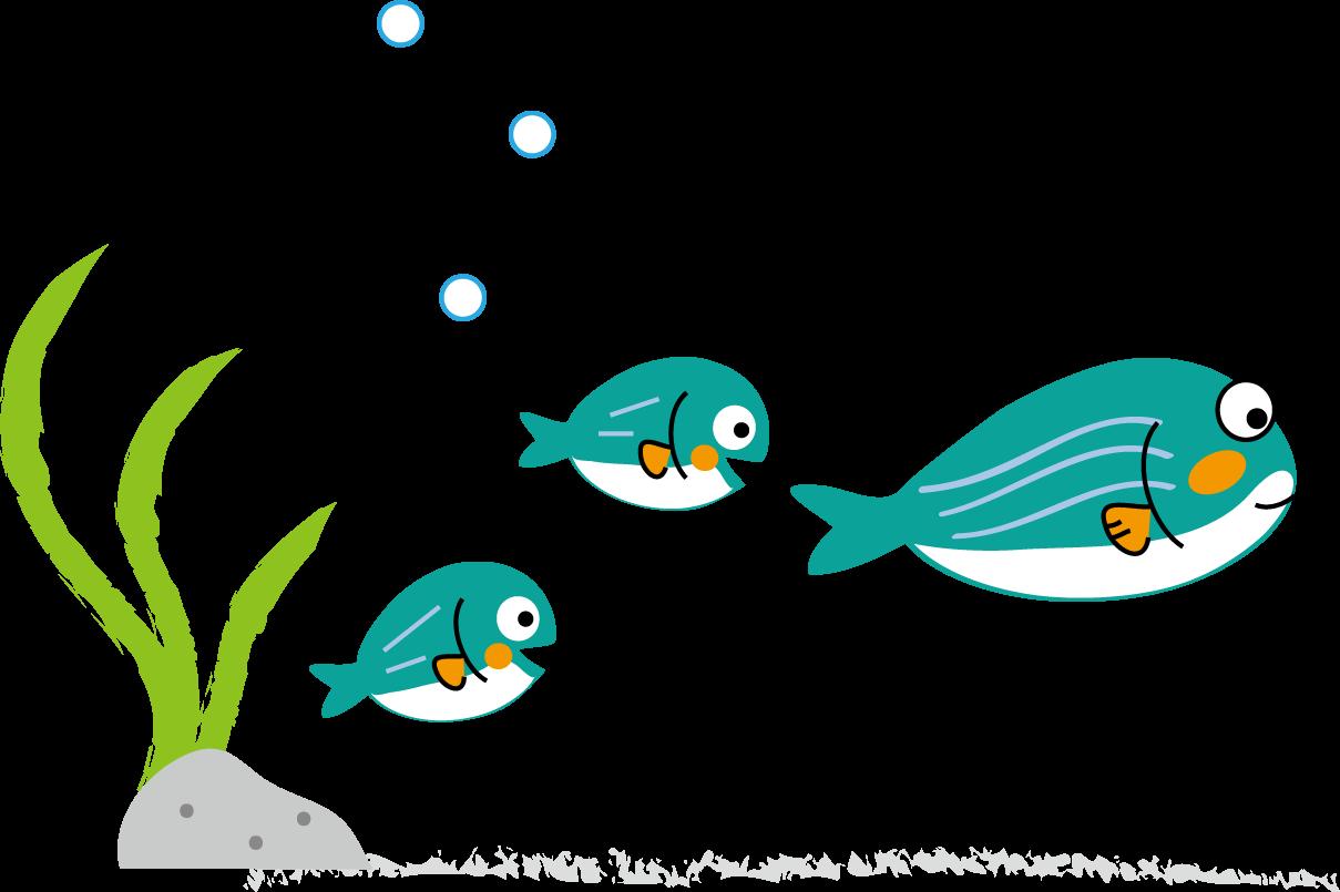 海の生き物のイラスト無料イラストフリー素材