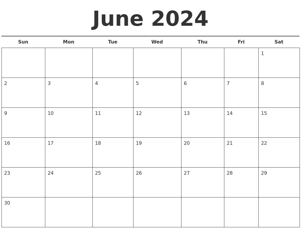june 2024 free calendar template
