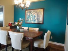 Accent wall color on Pinterest
