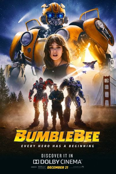 A theatrical movie poster for BUMBLEBEE.