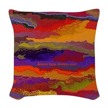 Autumn Sunset Woven Throw Pillow