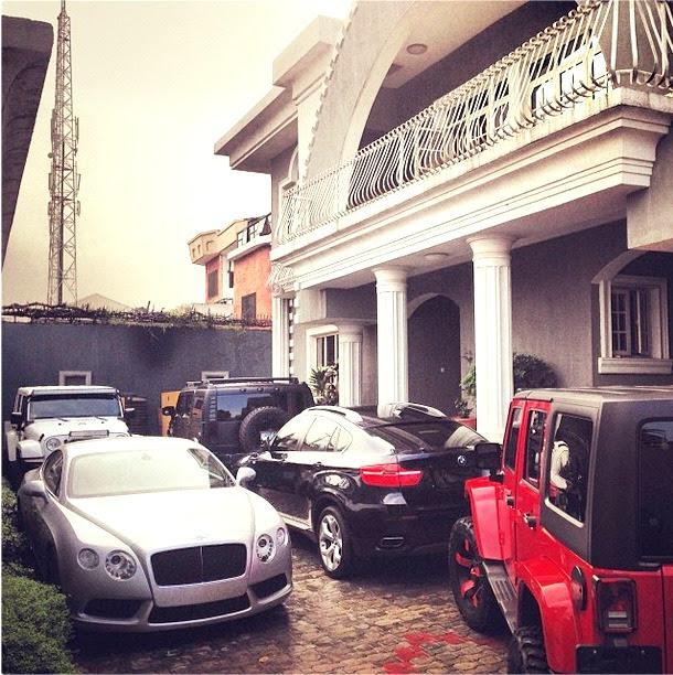 Psquare's fleet of cars