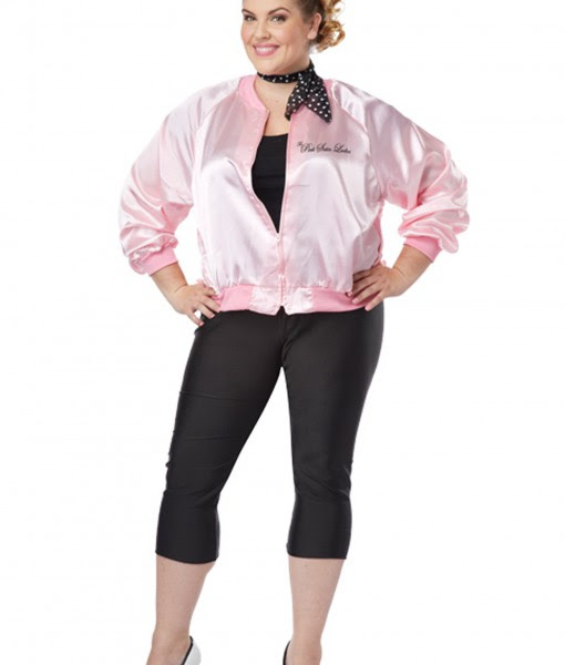 Plus Size Pink Satin Ladies Jacket Halloween Costume Ideas 2018