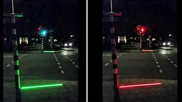 Signalisations lumineuses au sol