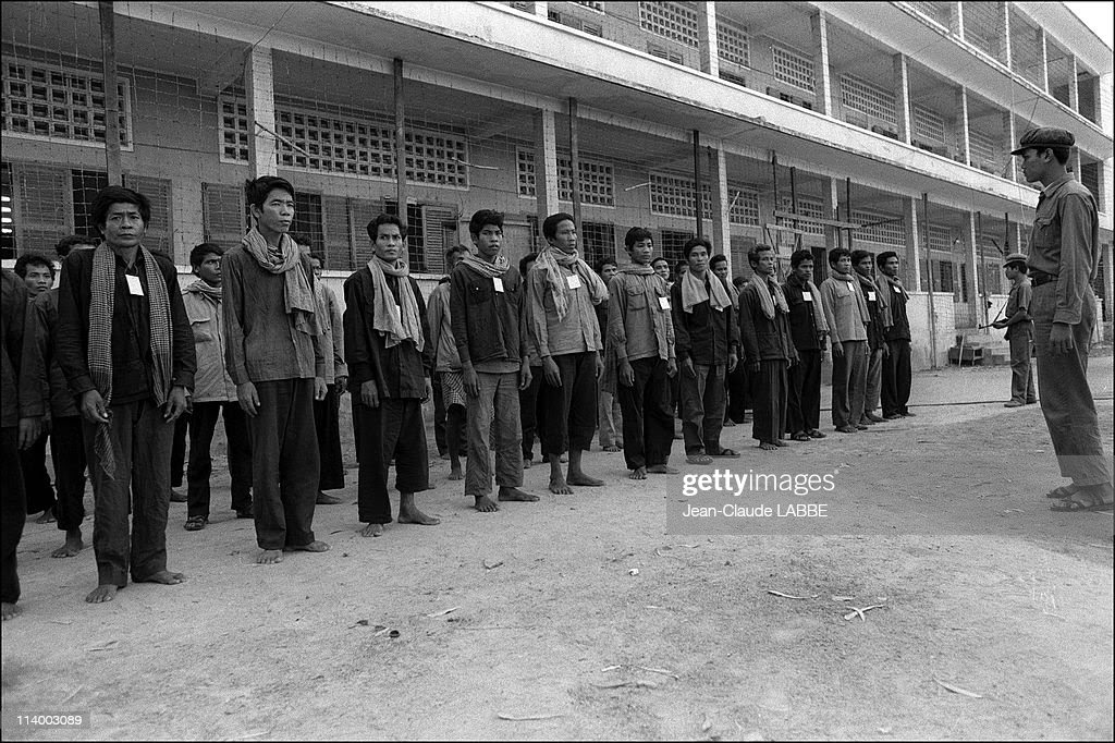 Vietnam-Cambodia war (1978-1979) in Cambodia-Khmers rouges prisoners after Phnom Penh fall.