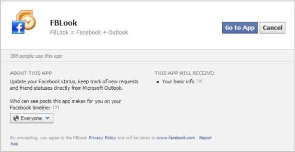 facebook toolbar in outlook