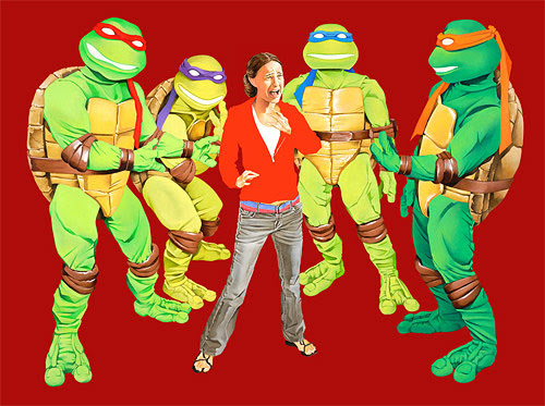 natalie portman ninja turtles painting what nat saw brandon bird