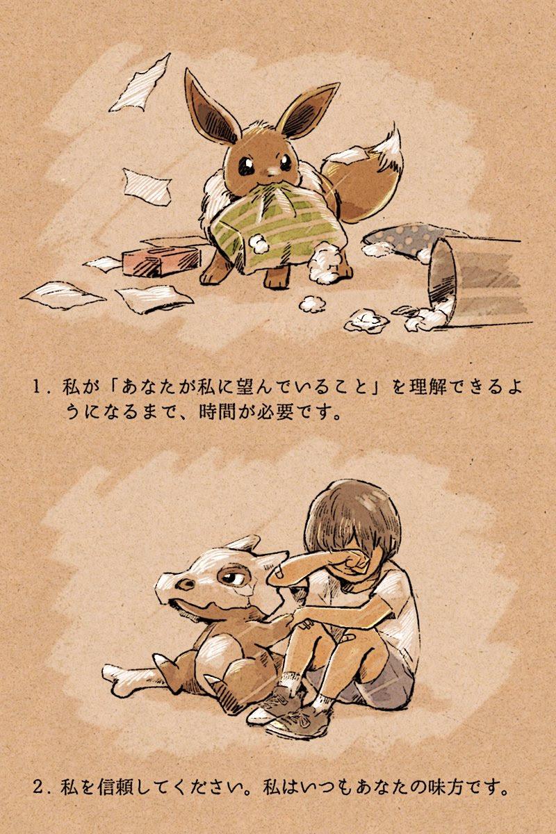 泣ける犬と私の10の約束をポケモンで描いたイラストが話題に 人間