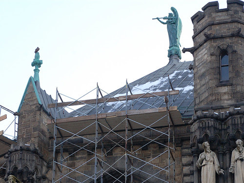 Two Hawks atop Cathedral