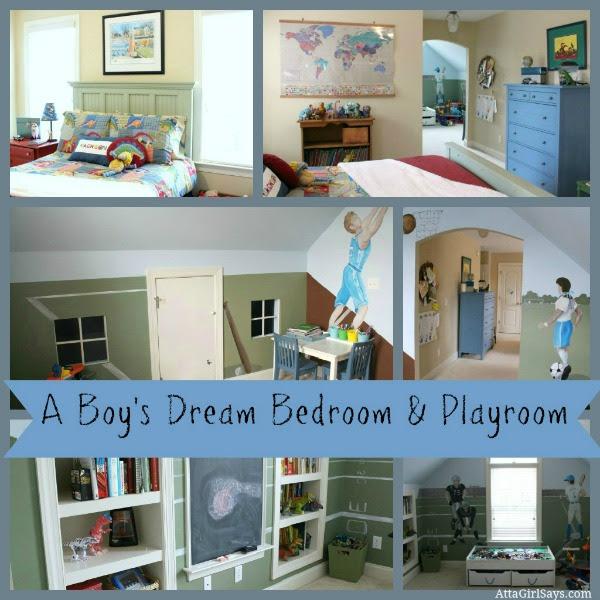 A Boy's Dream Bedroom & Playroom