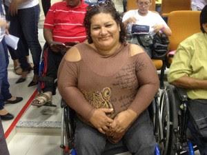 Maridalva Castro foi cadastrada para vaga durante o Dia D de Inclusão (Foto: Jéssica Alves/ G1)
