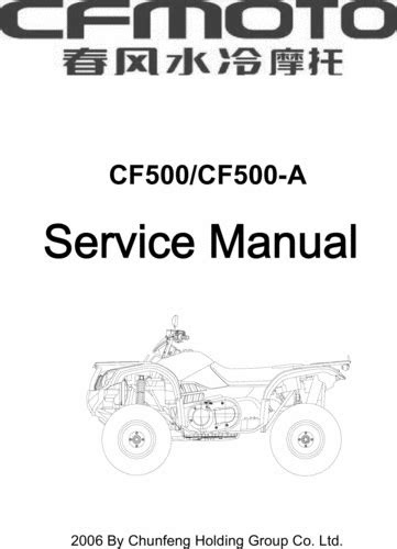 CHINESE UTV 500 CF MOTO/SPARTAN REPAIR MANUAL - Download