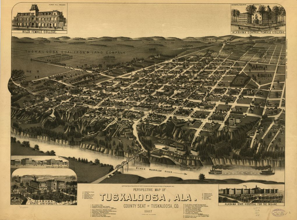 This Is What Tuscaloosa Alabama Looked Like Around 1887