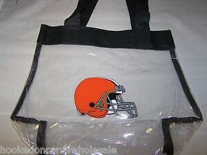 Cleveland Browns NFL Logo Clear Stadium Approved Tote Beach Bag 12x6x12quot;  eBay