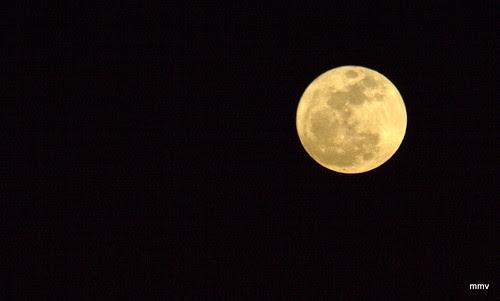La luna del 19 de marzo de 2011