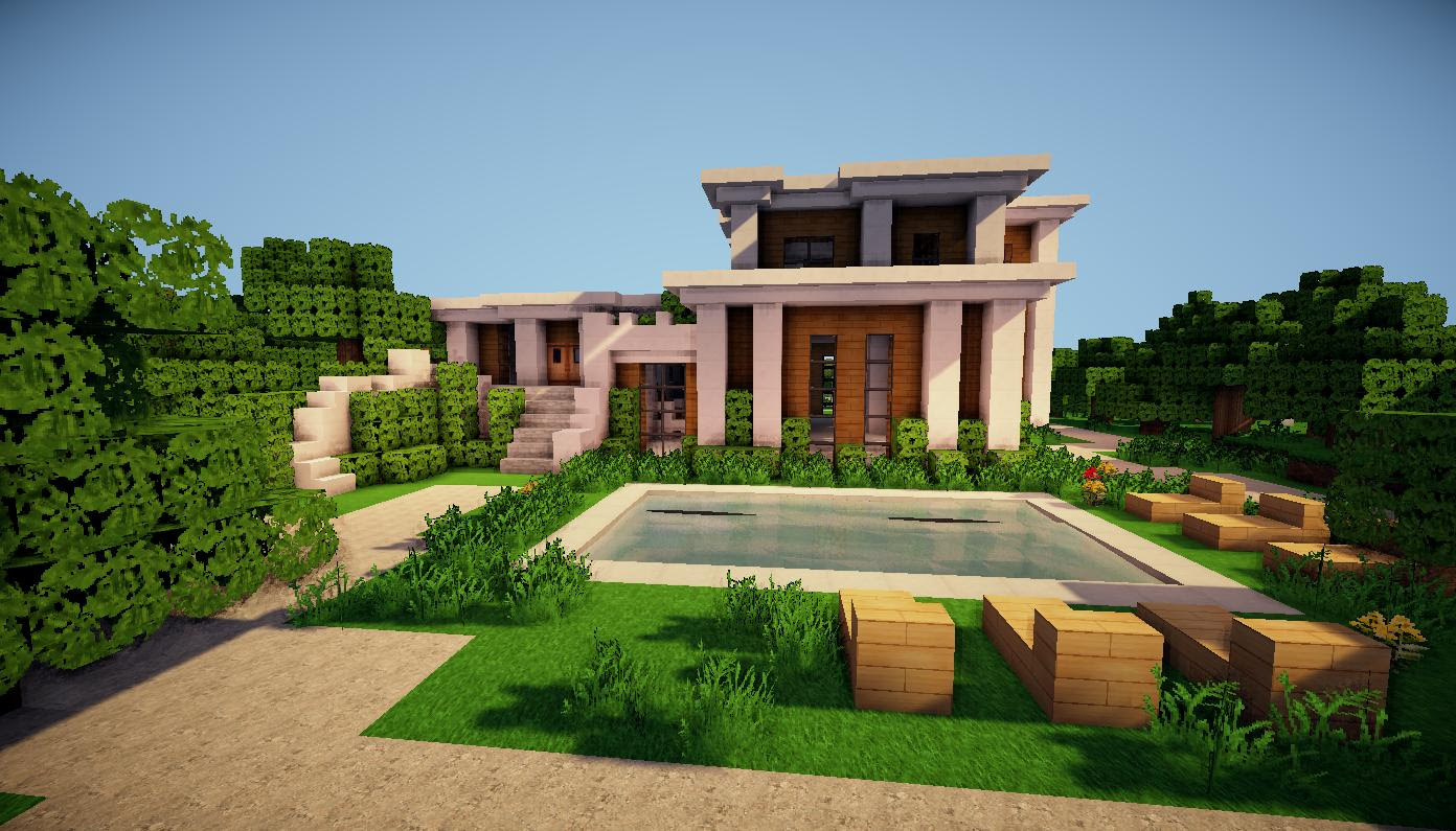 modern minecraft mansion designs