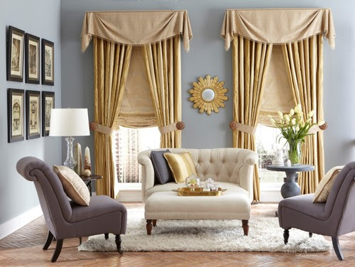 Traditional Living Room by Orange Window Treatments Budget Blinds