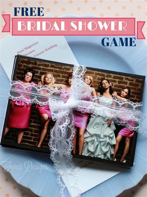 Wedding Movie Matchup  Free Bridal Shower Game   FYNES