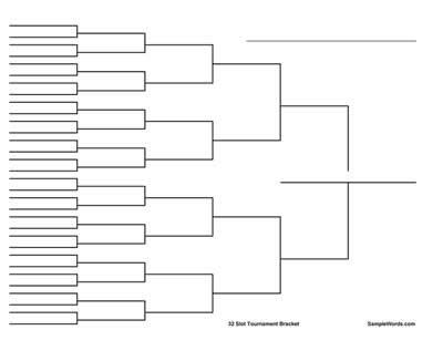 Free Printable 32 Team Tournament Bracket - Wide Version   The o ...
