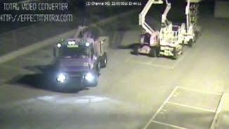 Una càmera de seguretat capta un dels robatoris