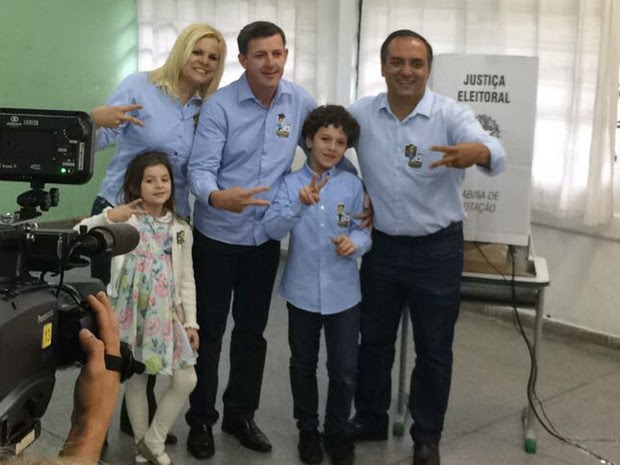Orlando Morando (PSDB) vota neste domingo em São Bernardo do Campo (SP) (Foto: Roney Domingos/G1)
