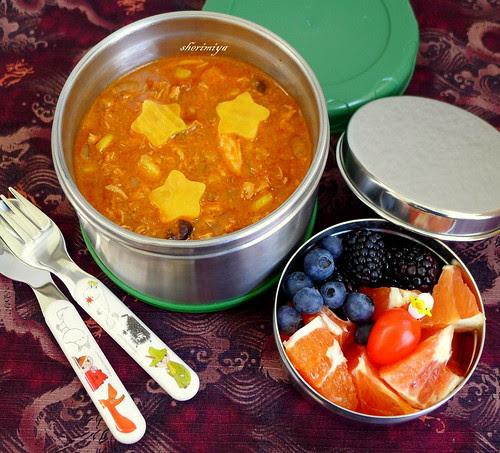 Chicken Enchilada Soup Bento by sherimiya ♥