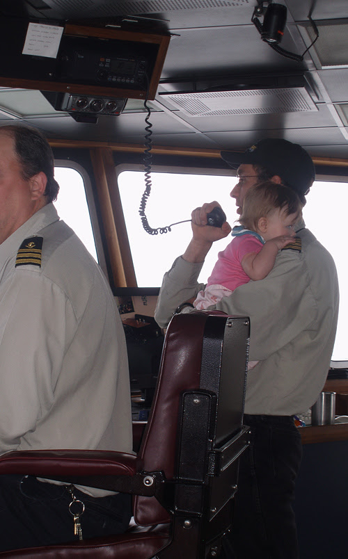 Perry Leach, Captain, with daughter