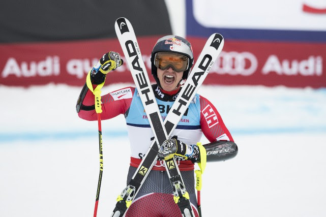 Erik Guay... (Photo Peter Schneider, Associated Press/Keystone)