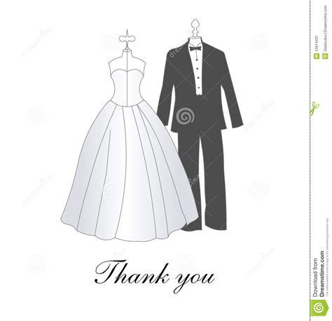 Wedding Thank you card stock vector. Illustration of