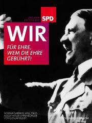 SPD-Wahlplakat: Ehre, wem Ehre gebührt