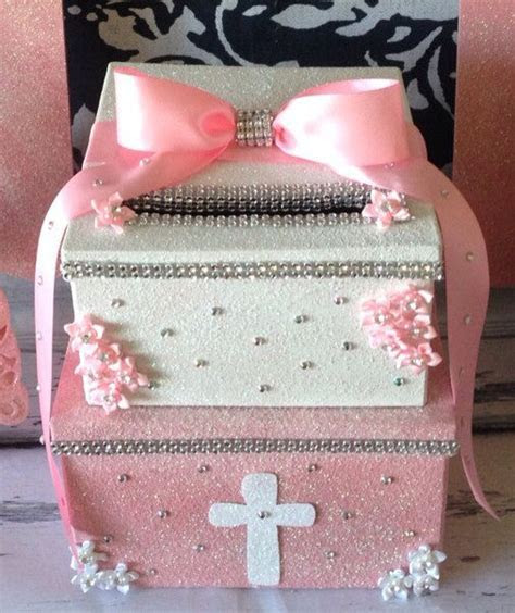 2 Tier Custom Made Card Box, Glitter Card Box, Made to