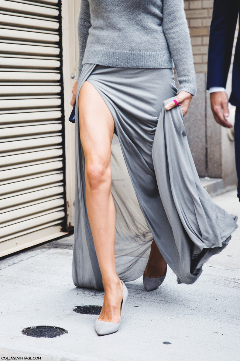 New_York_Fashion_Week_Spring_Summer_15-NYFW-Street_Style-Grey_Skirt-
