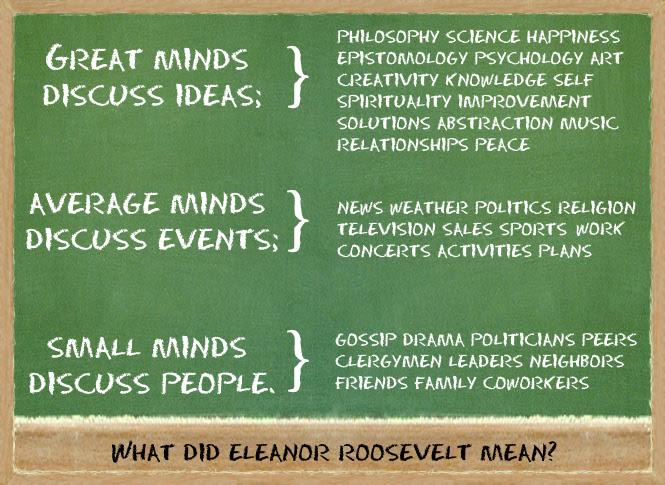 Great Minds Eleanor Roosevelt Quotes. QuotesGram