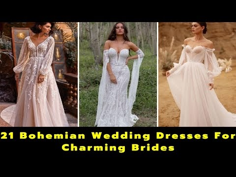 21 Bohemian Wedding Dresses For Charming Brides | Boho Wedding | Wedding Gown Design | Bride
