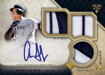 2017 Topps Triple Threads Baseball Base Rookie and Future Phenoms Auto Triple Relic
