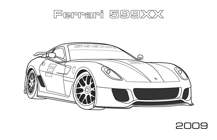 Ferrari Coloring Pages Arenda Stroy