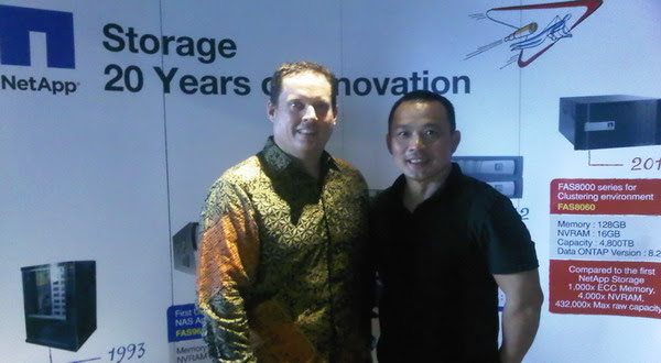 Scott Morris, GM NetApp ASEAN (kiri), Steven Law, Country Manager NetApp Indonesia (foto: Luthfi/Okezone)