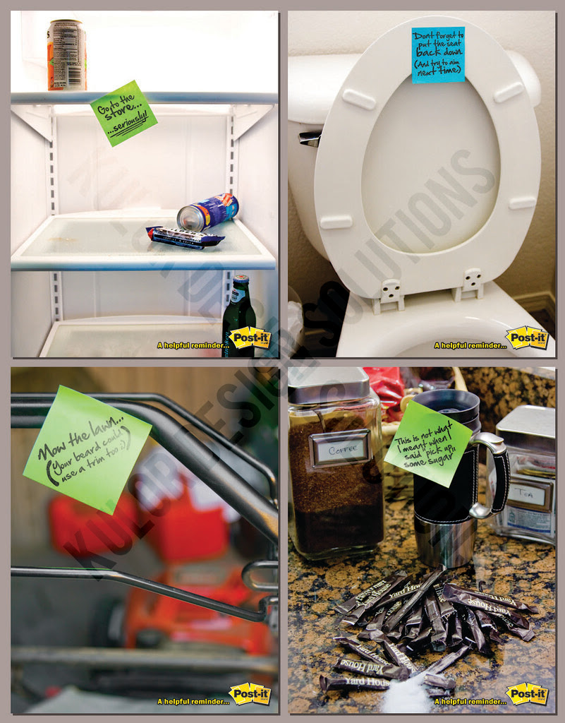 Post-It's ad campaign revisions/additions
