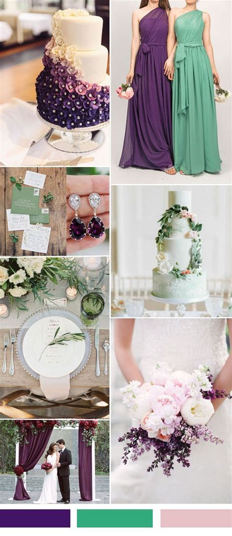 270 best Wedding   Purple & Green images on Pinterest