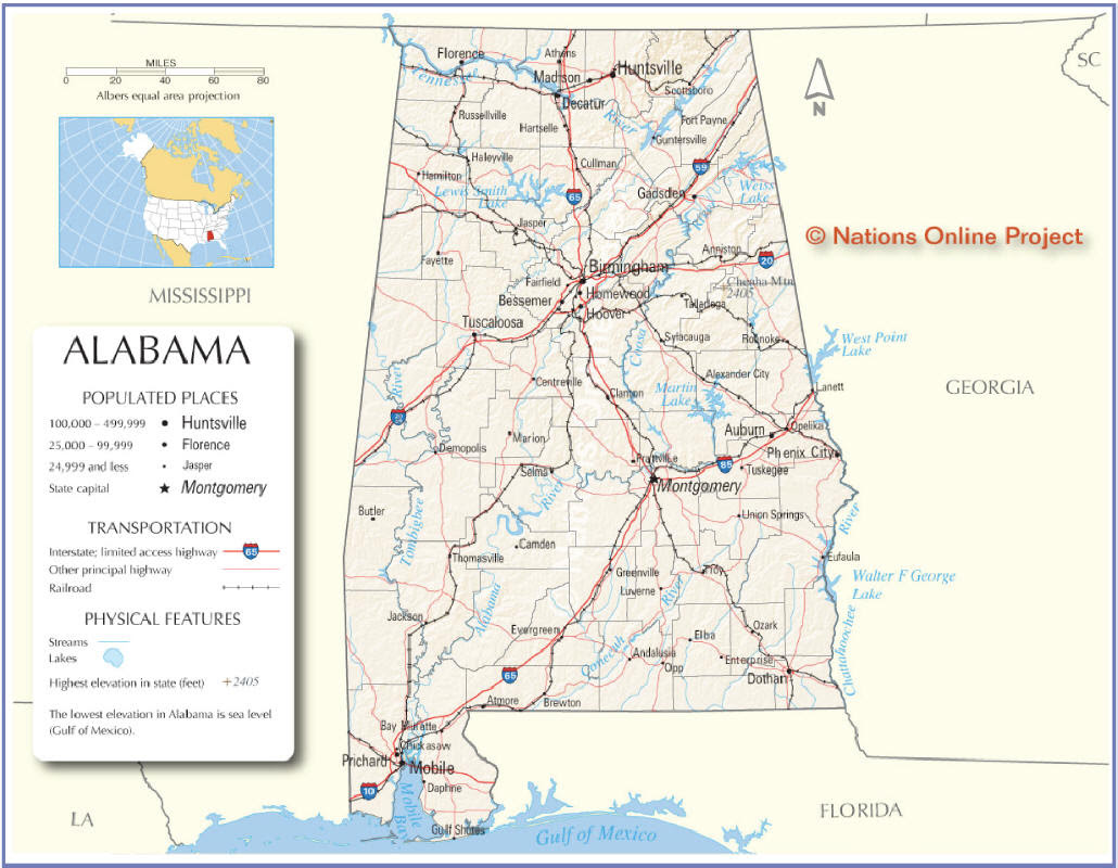 Alabama Map With Cities And Counties | Bedroom 2018