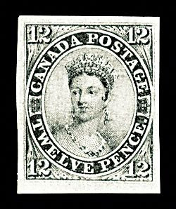 Canada's 12 Pence Black, one of the 'top 13 most valuable postage stamps in the world' by China.org.cn.