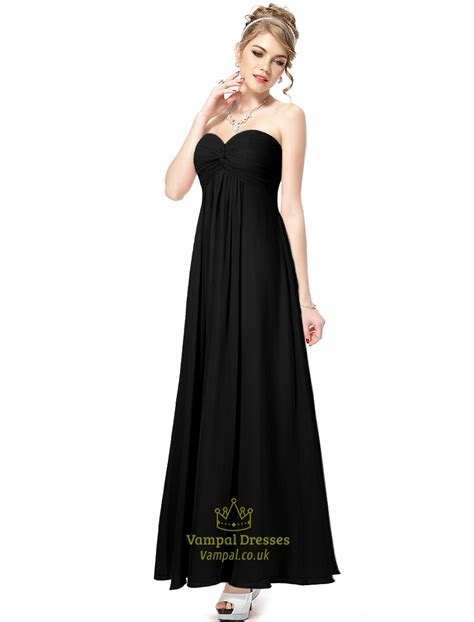 Black Bridesmaid Dresses Long Different Styles,Sweetheart