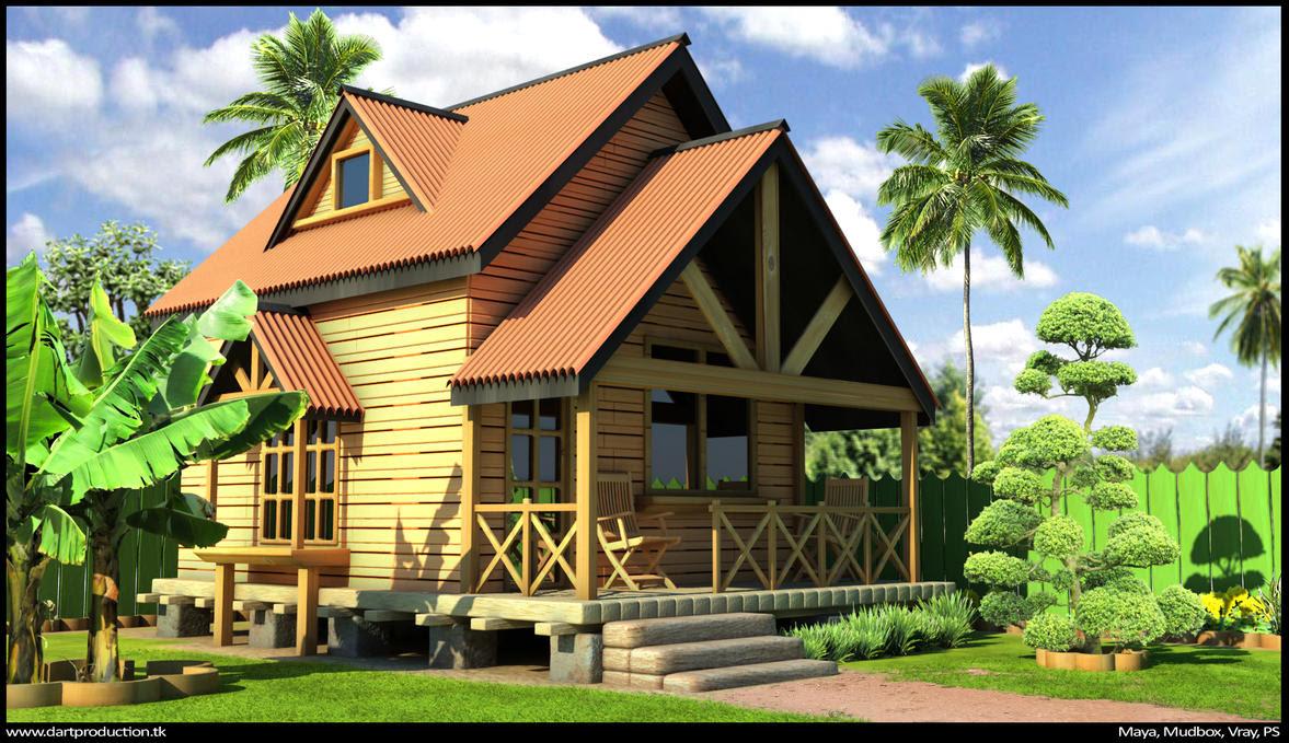 Wood house by dart12001 on DeviantArt