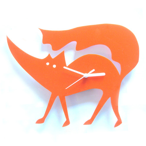 Acrylic Fox Clock by Big Bad Wolf Design