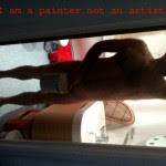 I am not a painter - I'm simply naked