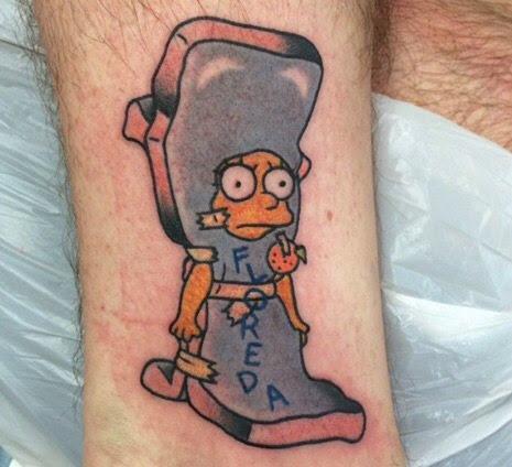 Los 12 Tatuajes Más Geniales Y Originales De Los Simpson El Día De Hoy