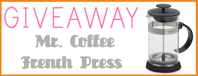 GIVEAWAY pic french press