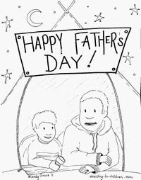 father's day coloring sheets with diversity
