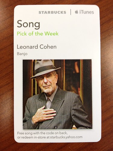Starbucks iTunes Pick of the Week - Leonard Cohen - Banjo